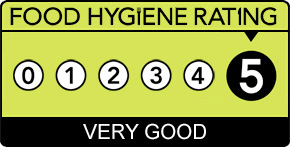Food Hygiene Rating 5 badge.