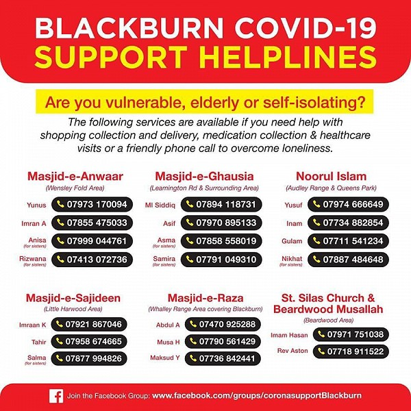 support helplines