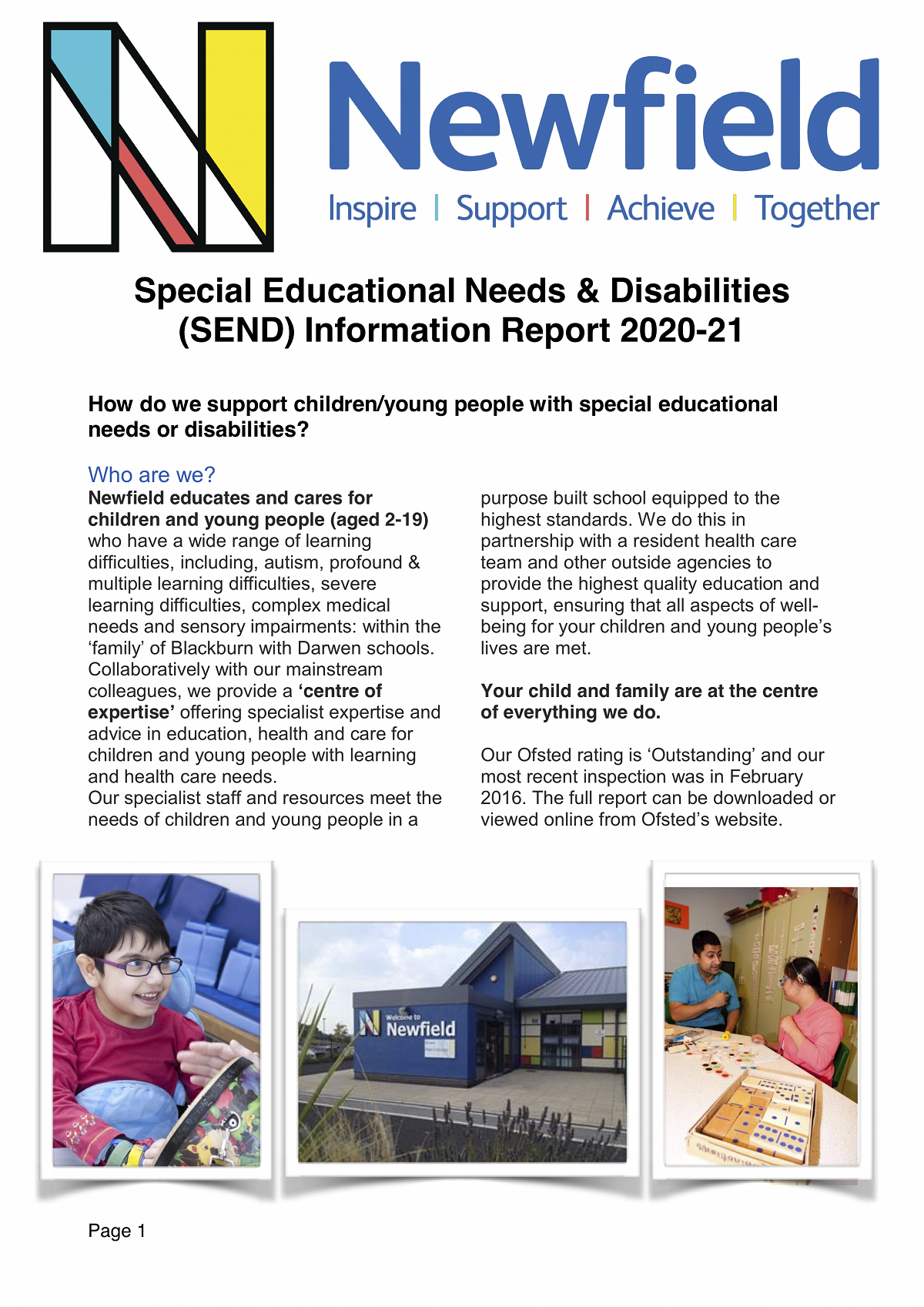 Newfield SEND Information Report 2020 - 21