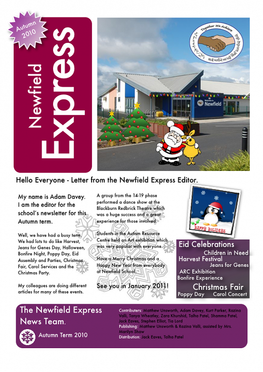 Newfield Newsletter Autumn 2010
