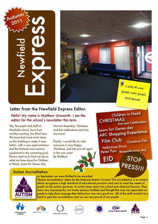 Newfield Newsletter Autumn 2011