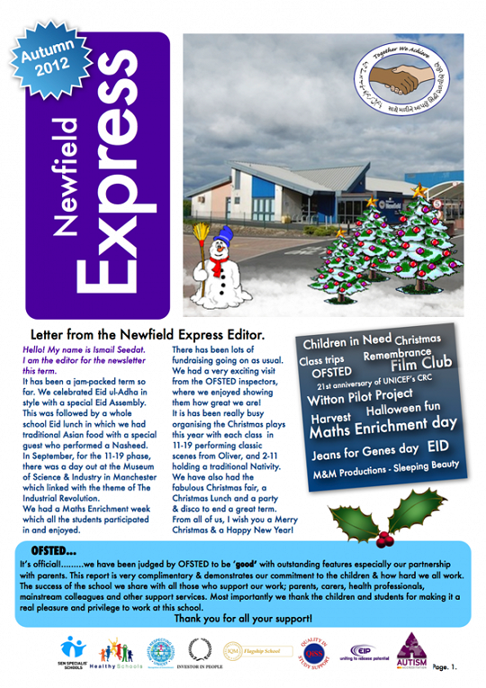 Newfield Newsletter Autumn 2012