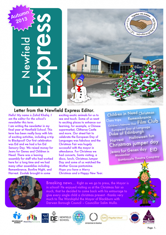 Newfield Newsletter Autumn 2013