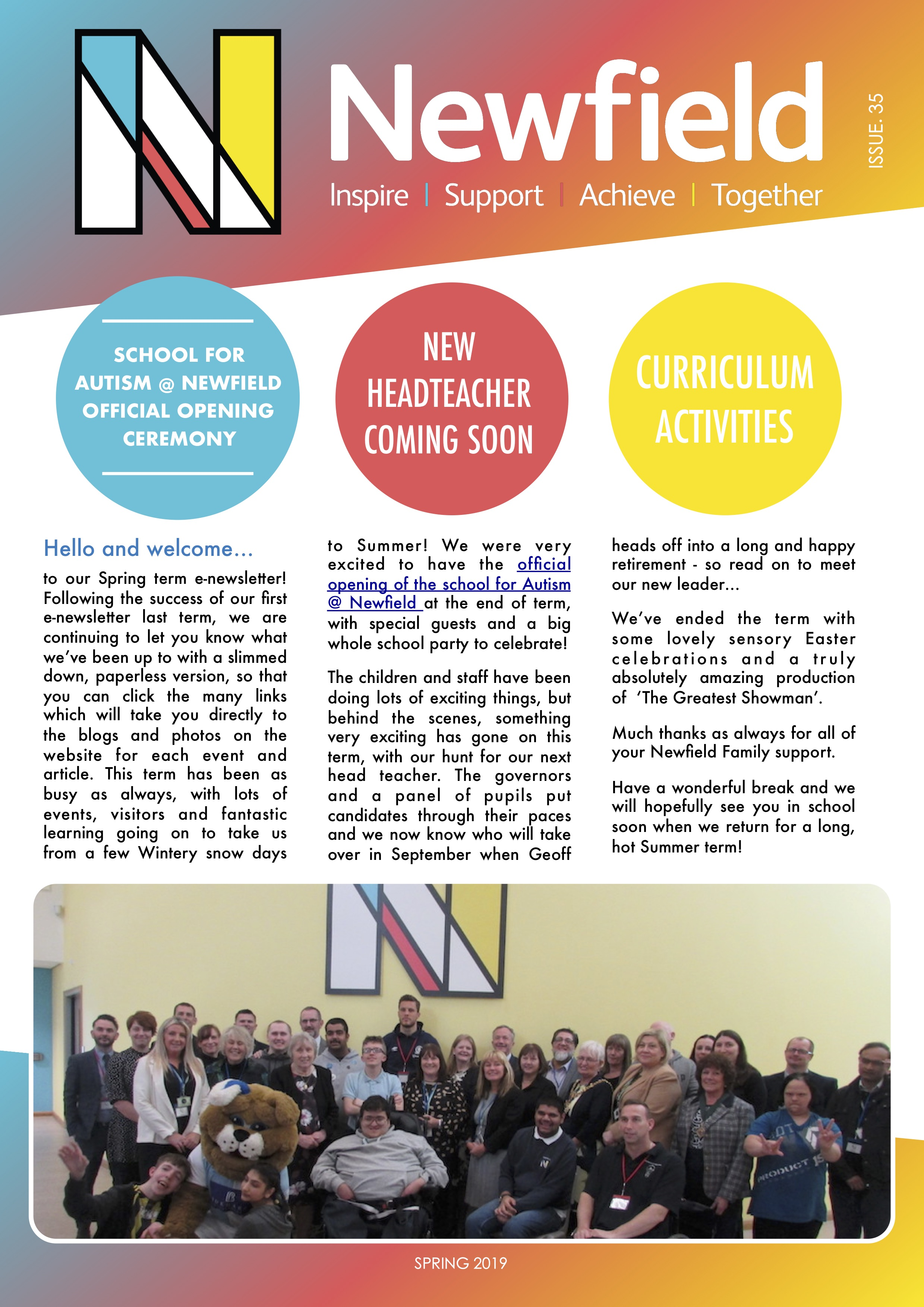 Newfield Newsletter Spring 2019