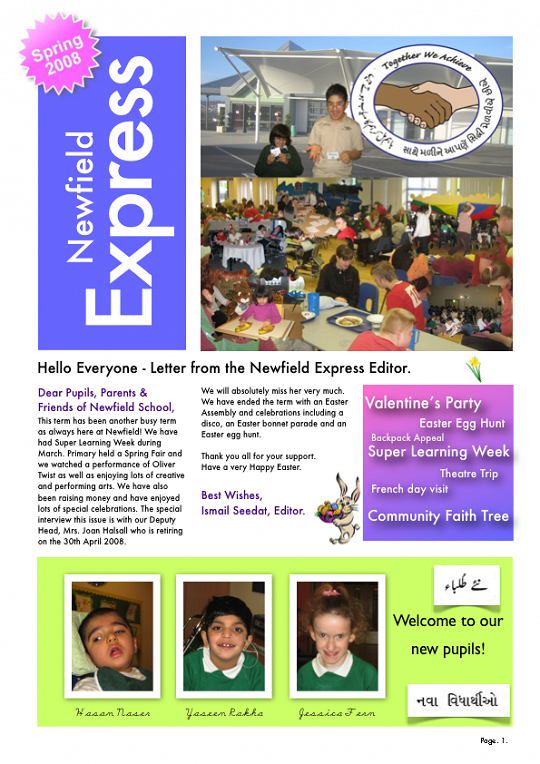 Newfield Newsletter Spring 2008
