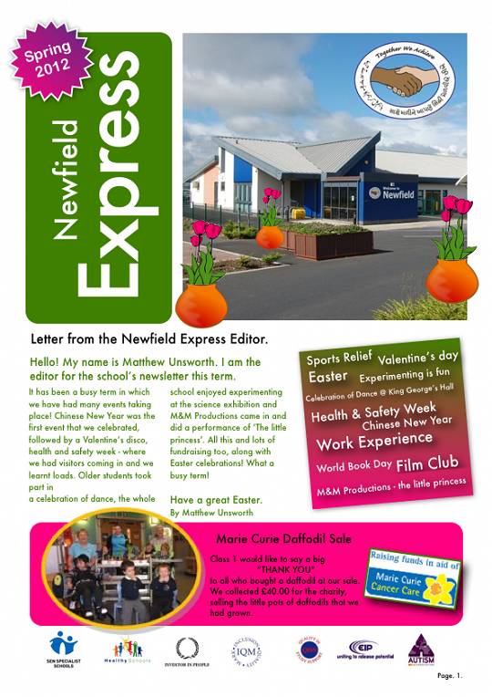 Newfield Newsletter Spring 2012