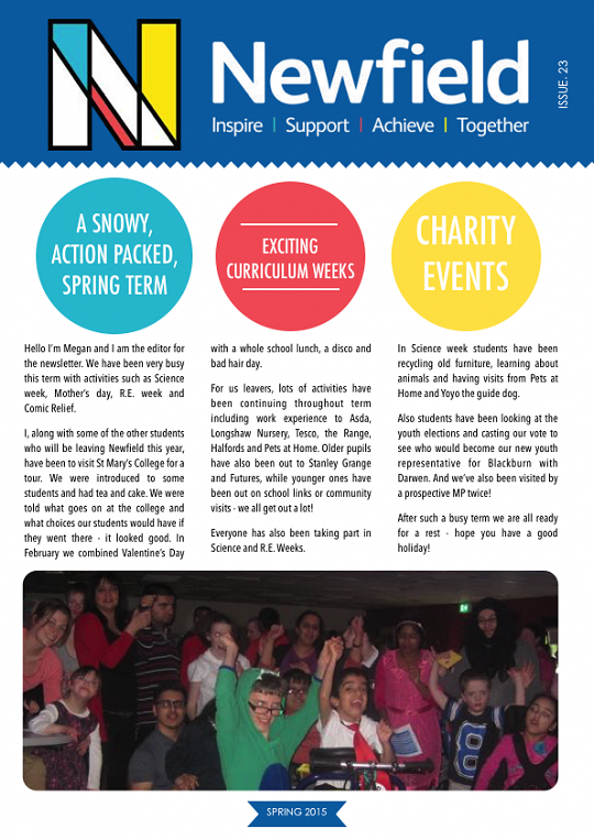 Newfield Newsletter Spring 2015