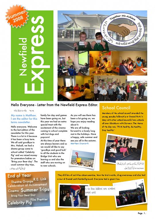 Newfield Newsletter Summer 2008