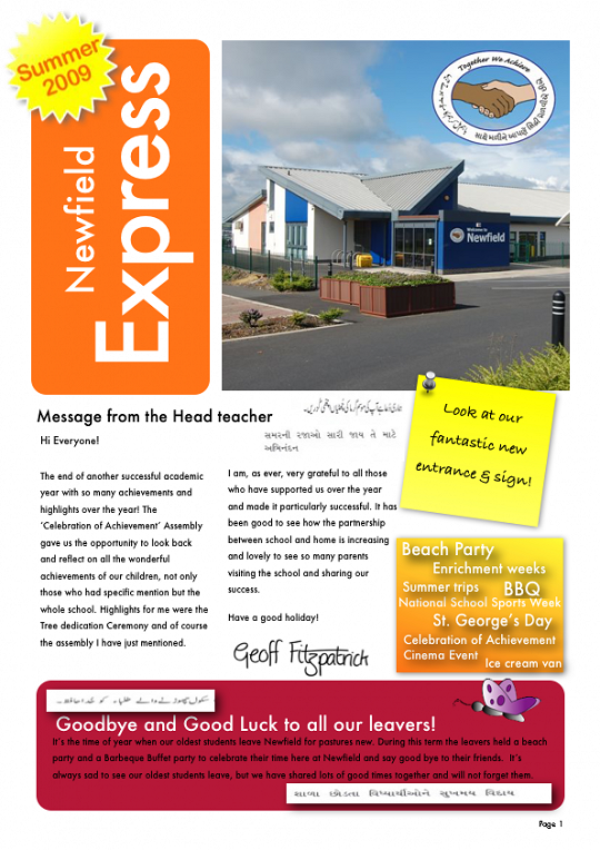 Newfield Newsletter Summer 2009