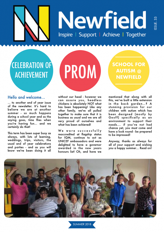 Newfield Newsletter Summer 2018