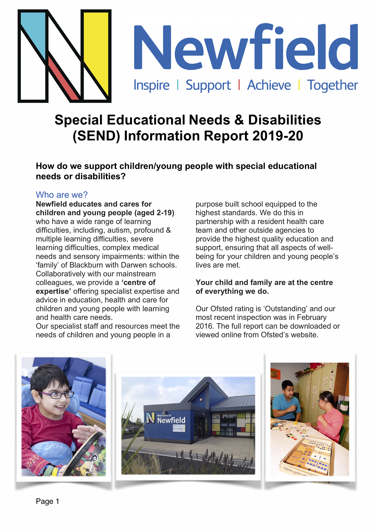 Newfield SEND Information Report 2018-19